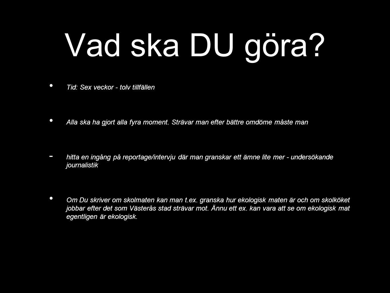Kriterier i Svenska aktivt kunna delta i samtal och diskussioner och sätta sig in i andras tankar samt kunna redovisa ett arbete muntligt så att innehållet framgår och är begripligt, - kunna ta del av, reflektera över och värdera innehåll och uttrycksmedel i bild, film och teater, – kunna skriva olika sorters texter så att innehållet framgår tydligt samt tillämpa skriftspråkets normer, både vid skrivande för hand och med dator, – ha kunskaper om språket som gör det möjligt att göra iakttagelser av eget och andras språkbruk.