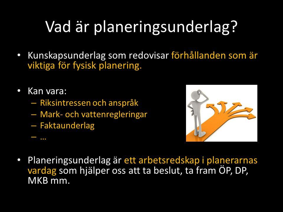 Planeringskatalogen Ska vara en sammanställning av alla relevanta underlag för samhällsplanering som i nuläget finns spridda på olika hemsidor, portaler och databaser.
