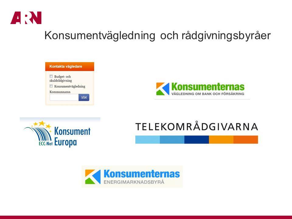 Konsumentvägledning och rådgivningsbyråer