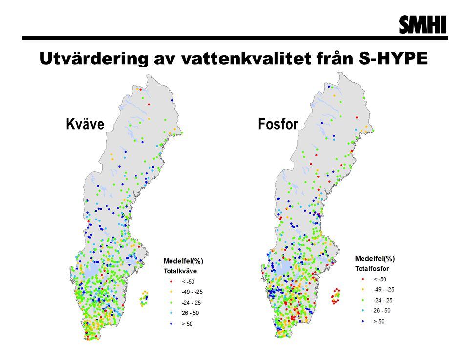 Utvärdering av vattenkvalitet från S-HYPE KväveFosfor