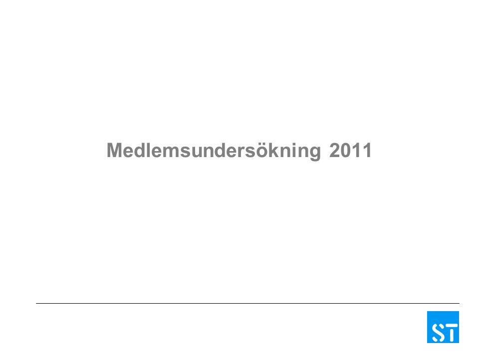 Medlemsundersökning 2011