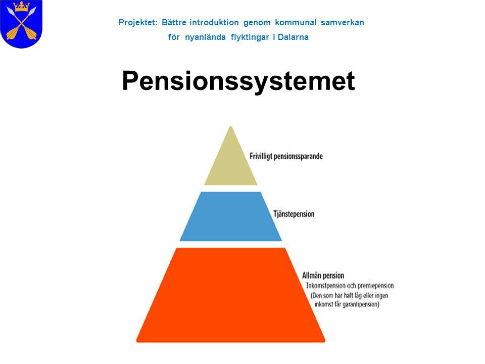 Projektet: Bättre introduktion genom kommunal samverkan för nyanlända flyktingar i Dalarna Pensionssystemet