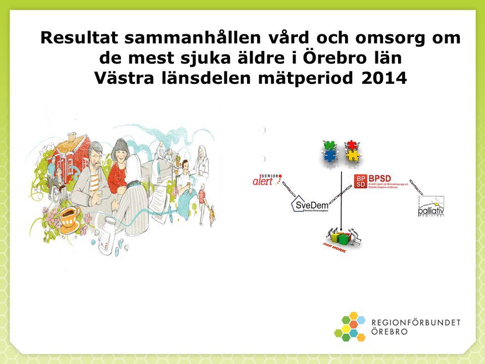Resultat sammanhållen vård och omsorg om de mest sjuka äldre i Örebro län Västra länsdelen mätperiod 2014