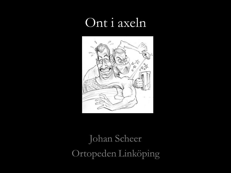 Ont i axeln Johan Scheer Ortopeden Linköping