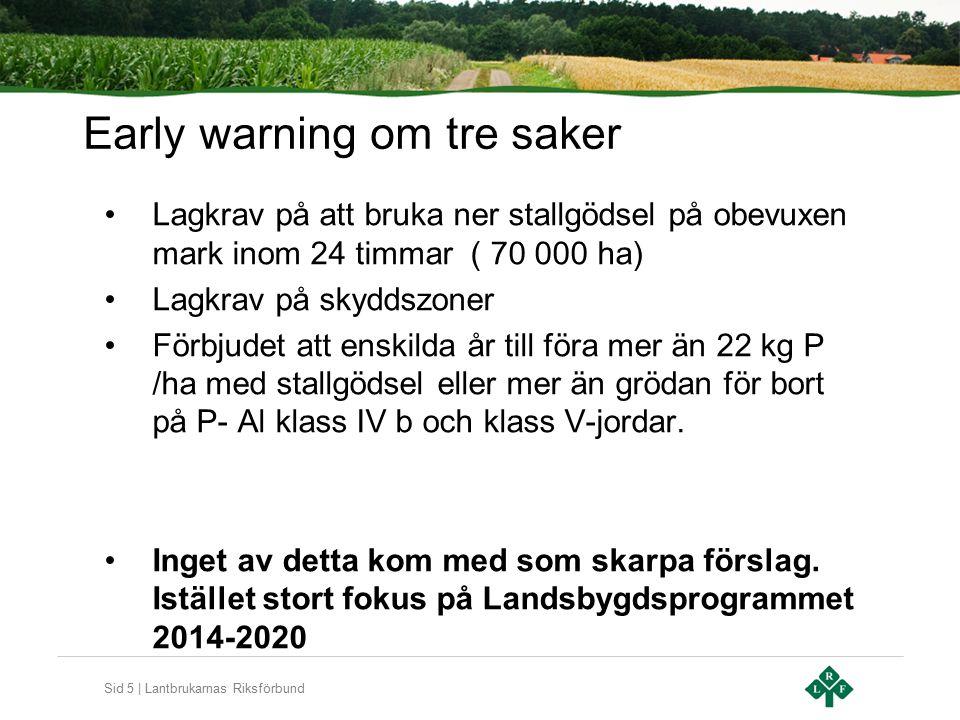 Sid 6 | Lantbrukarnas Riksförbund Artikel 9 – prispolitik för vatten EU anser att Sverige och flera andra länder inte har en tillräckligt utbyggd prispolitik för vattentjänster.