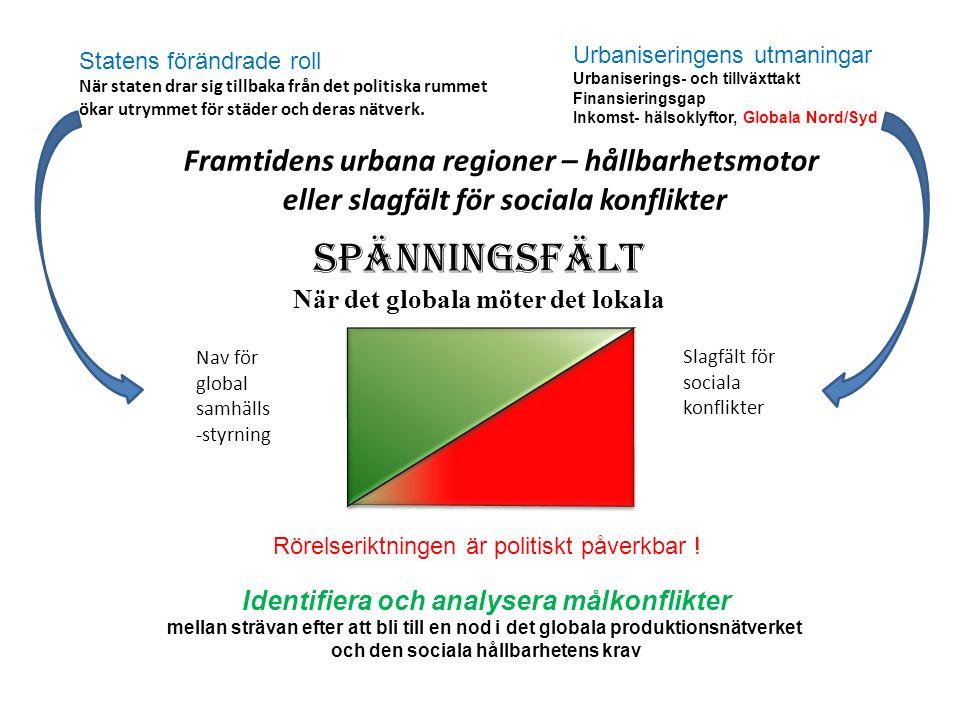 Tillväxtmotor och en av världens mest Innovativa regioner VGR skall 2020 vara Världsledande inom sina styrkeområden Stockholmsregionen ska bli Europas mest attraktiva storstadsregion.