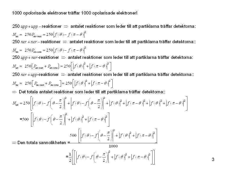 Fk3002 Kvantfysikens grunder24 Det är i princip omöjligt att göra en mätning med  x  p<h Detta betyder att vi inte kan hitta på ett experiment för att göra detta.