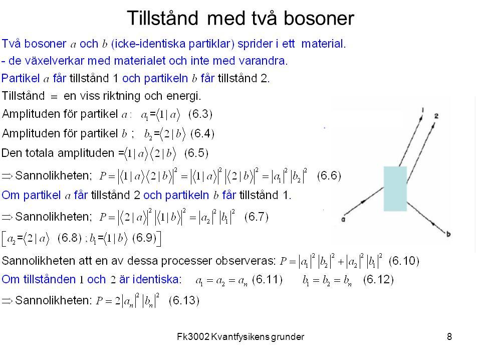 Fk3002 Kvantfysikens grunder9 Tillstånd med två identiska bosoner
