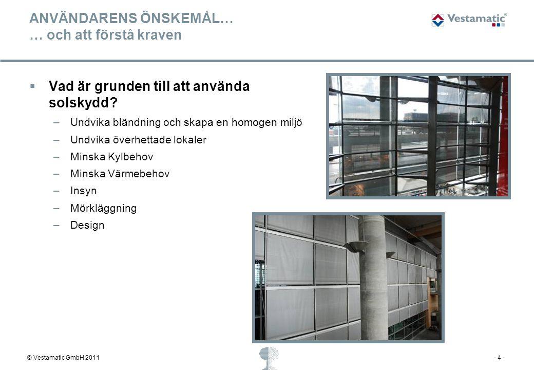 © Vestamatic GmbH 2011- 5 - STRUKTURERING… Väg behoven för att välja rätt lösning.