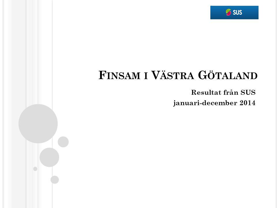 F INSAM I V ÄSTRA G ÖTALAND Resultat från SUS januari-december 2014