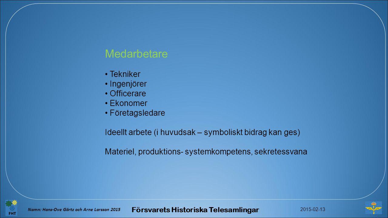 Försvarsmuseer FHT, Försvarets Historiska Telesamlingar styrs och leds av Hkv respektive FMV.