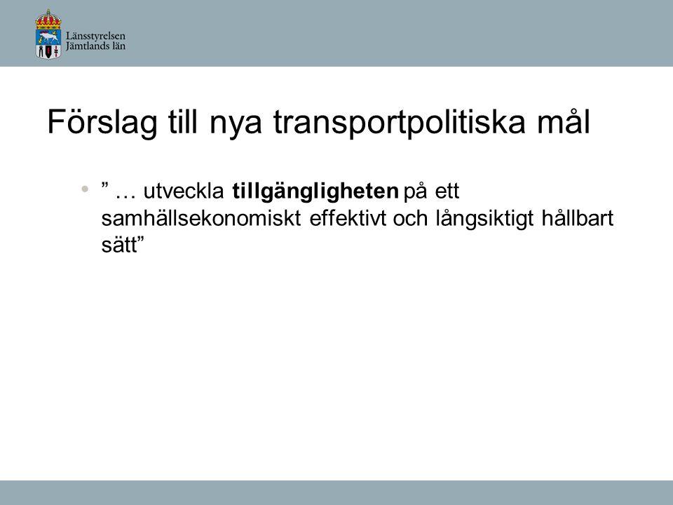 Fyrstegsprincipen i planering av transportinfrastruktur Åtgärder som kan påverka transportbehovet och val av transportsätt Åtgärder som ger effektivare utnyttjande av befintlig infrastruktur Begränsade ombyggnadsåtgärder Nyinvesteringar och större ombyggnadsåtgärder