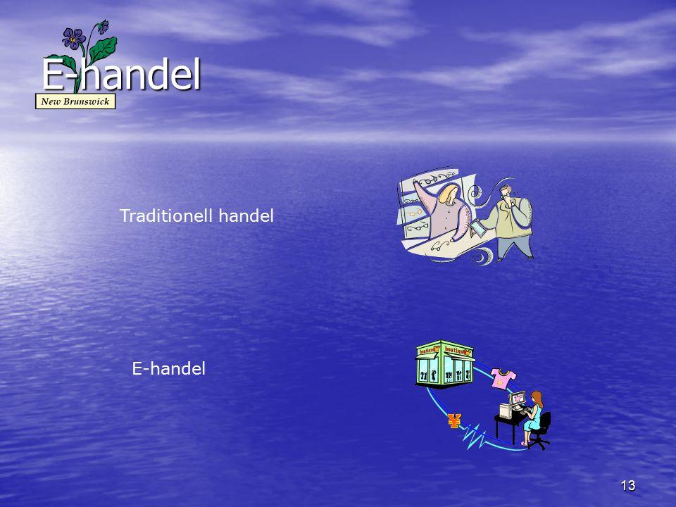 13 E-handel Traditionell handel E-handel