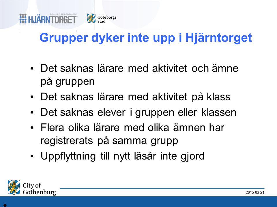 2015-03-21 Varför finns inga aktiviteter.