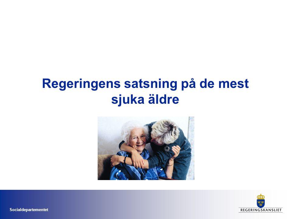 Socialdepartementet Increased life expectancy Percentage change in number of people per age group 2010–2050.