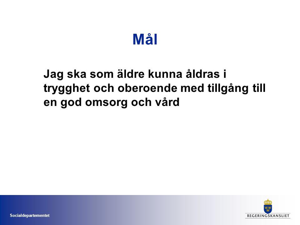 Socialdepartementet Vilka är de mest sjuka äldre.