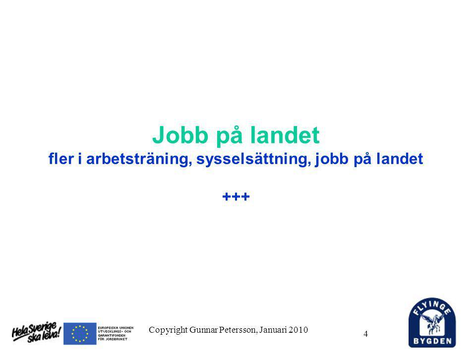 4 Jobb på landet fler i arbetsträning, sysselsättning, jobb på landet +++