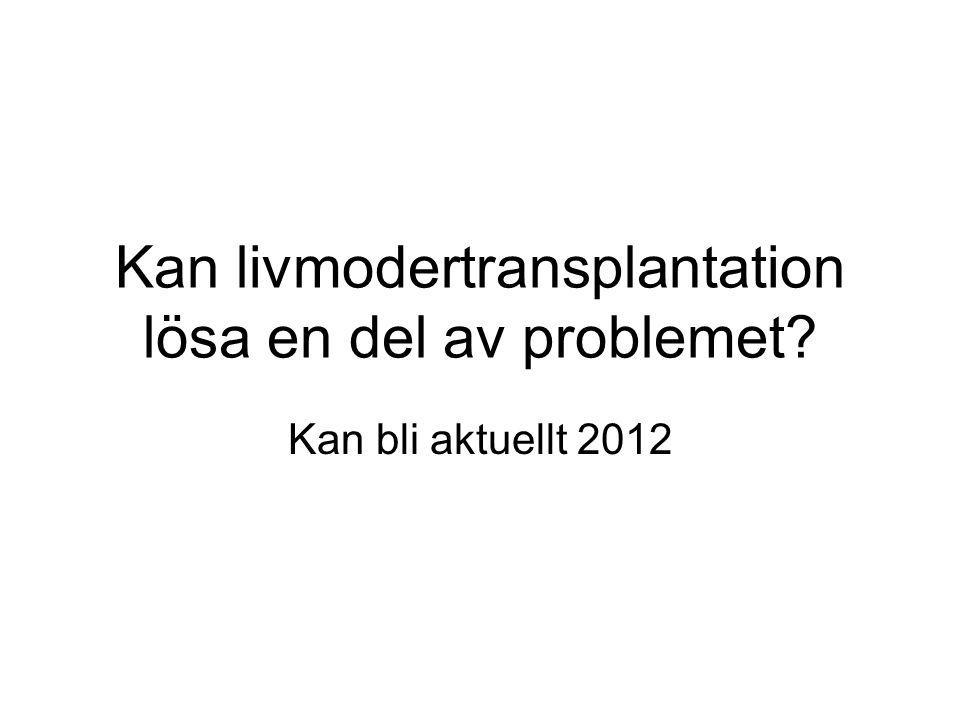Kan livmodertransplantation lösa en del av problemet Kan bli aktuellt 2012