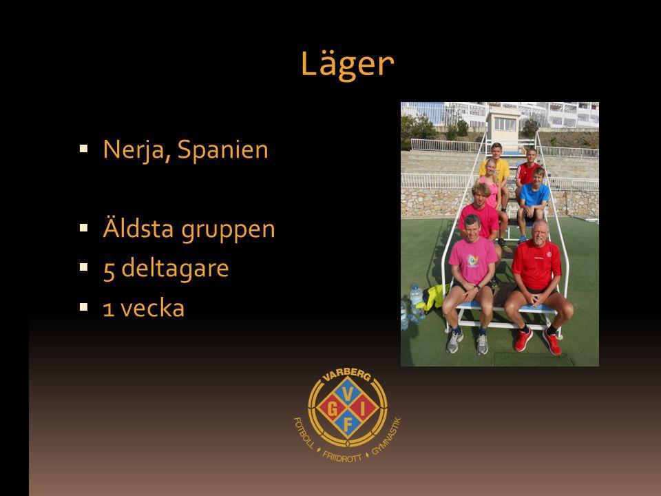 Läger  Nerja, Spanien  Äldsta gruppen  5 deltagare  1 vecka