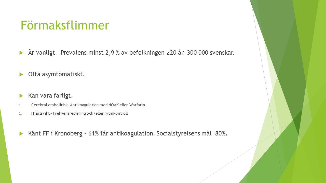 Lugne Lennart  Warfarin- elkonverterad  Ekokardiografi- normal.
