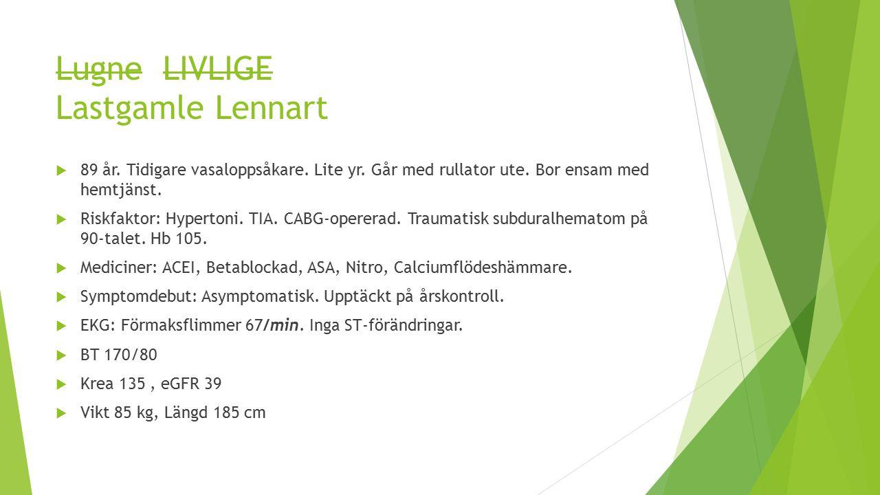 Lugne LIVLIGE Lastgamle Lennart  89 år.Tidigare vasaloppsåkare.