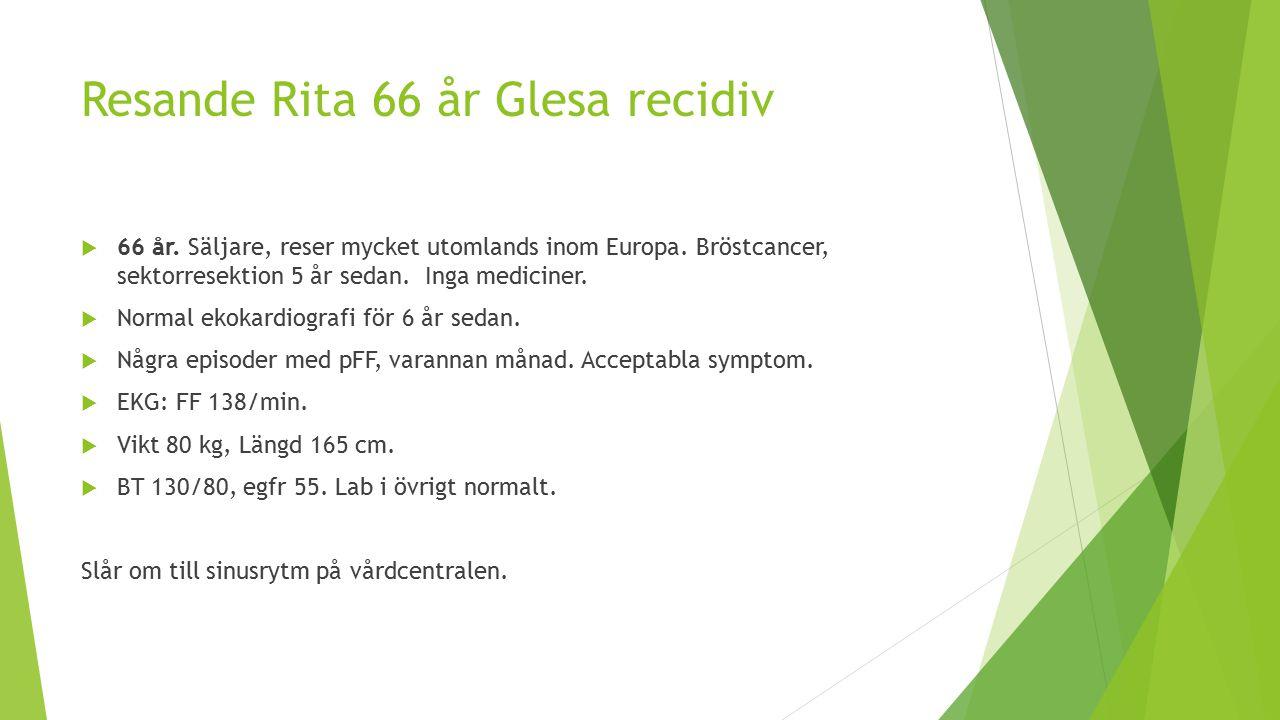 Resande Rita 66 år Glesa recidiv  66 år.Säljare, reser mycket utomlands inom Europa.