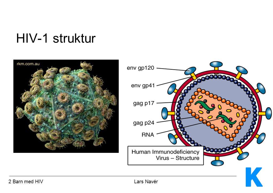 3 Barn med HIV Lars Navér HIV-1 replikationscykel