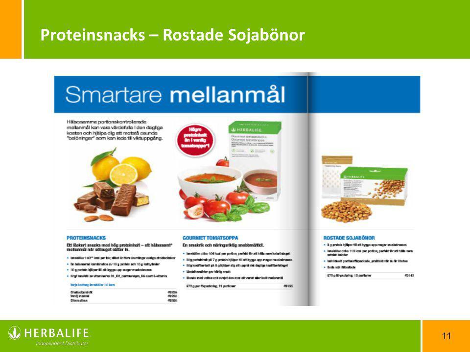 11 Proteinsnacks – Rostade Sojabönor