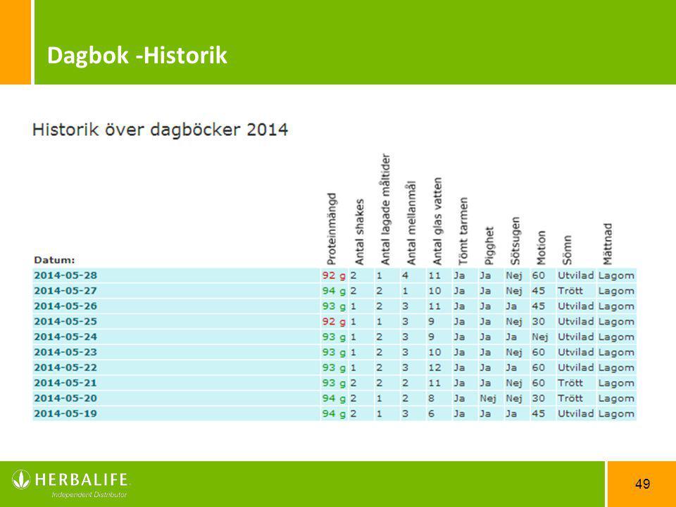 49 Dagbok -Historik
