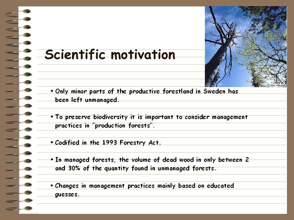 Scientific motivation