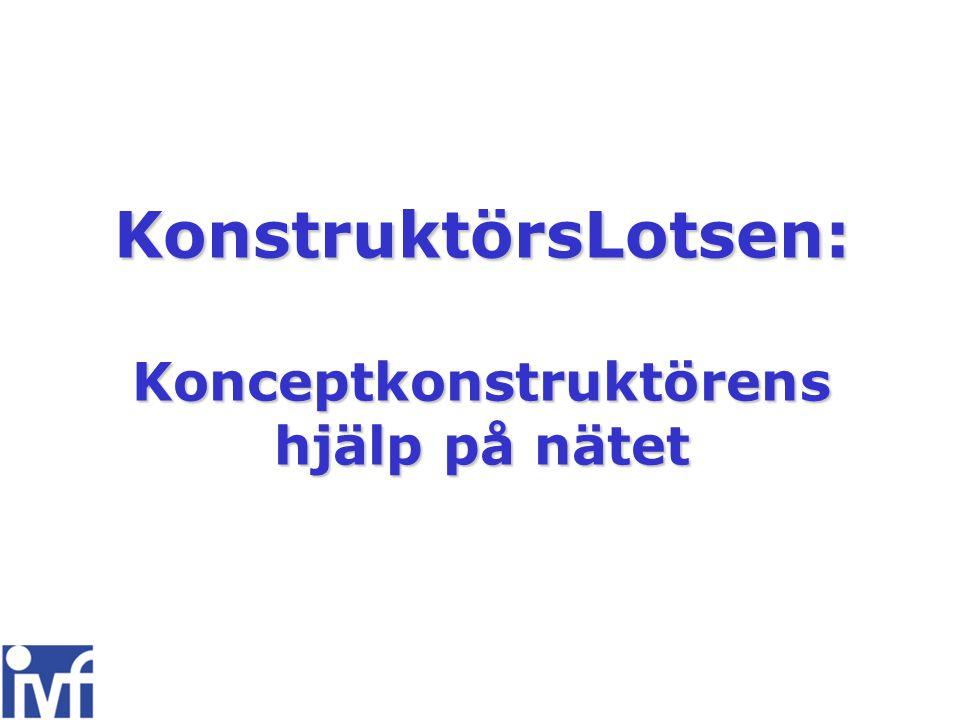 KonstruktörsLotsen:Konceptkonstruktörens hjälp på nätet