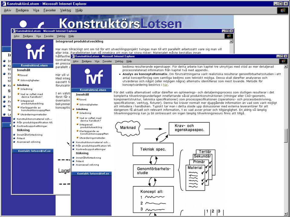 Klicka och läs om konstruktionsmaterial och tillverkningsprocesser