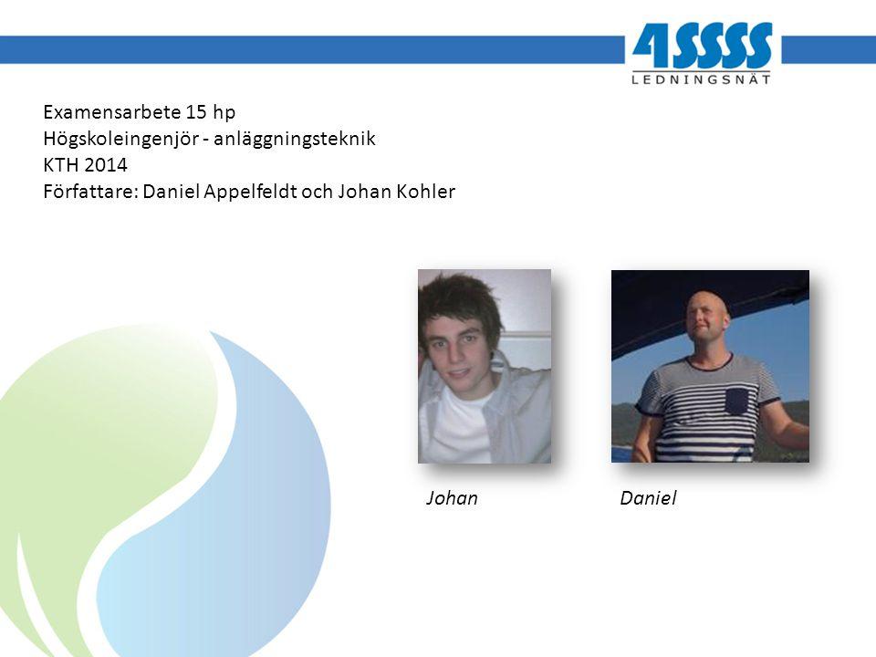 Examensarbete 15 hp Högskoleingenjör - anläggningsteknik KTH 2014 Författare: Daniel Appelfeldt och Johan Kohler Johan Daniel