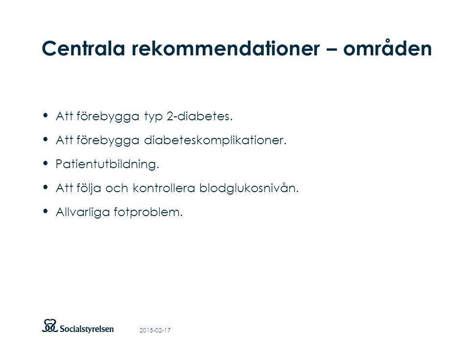 Att visa fotnot, datum, sidnummer Klicka på fliken Infoga och klicka på ikonen sidhuvud/sidfot Klistra in text: Klistra in texten, klicka på ikonen (Ctrl), välj Behåll endast text Centrala rekommendationer – områden Att förebygga typ 2-diabetes.