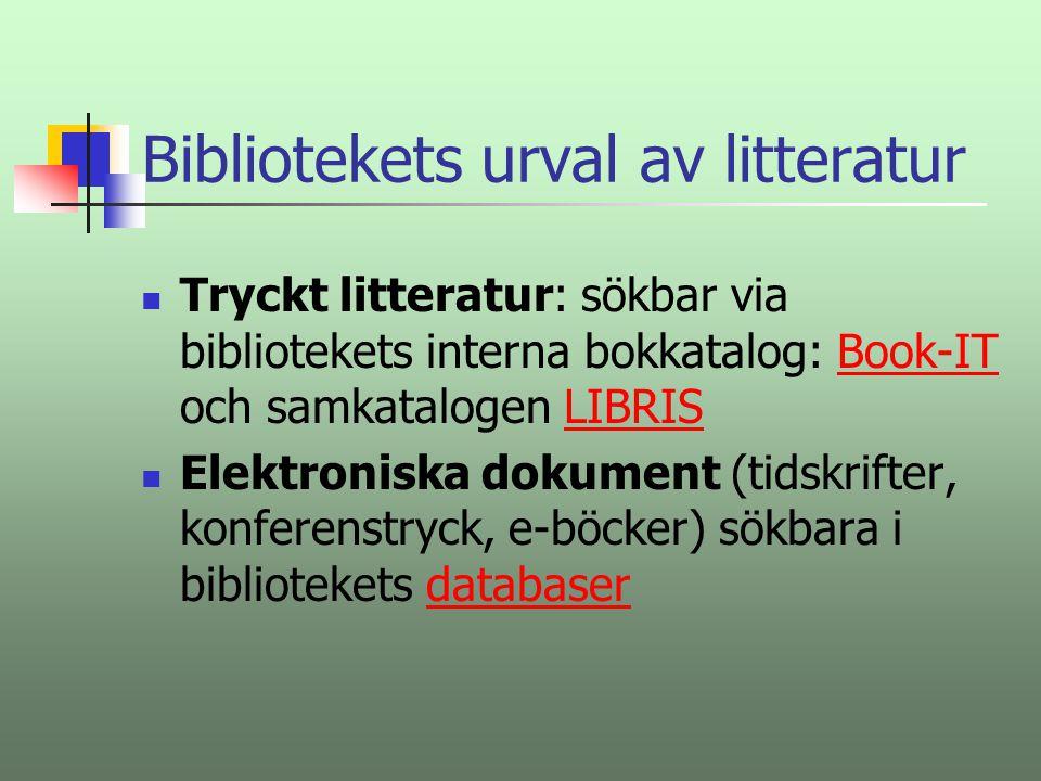 Informationssökning i högskolebibliotekets databaser och på Internet Tord Heljeberg tord.heljeberg@mdh.se 021-101641.www.mdh.se/bib
