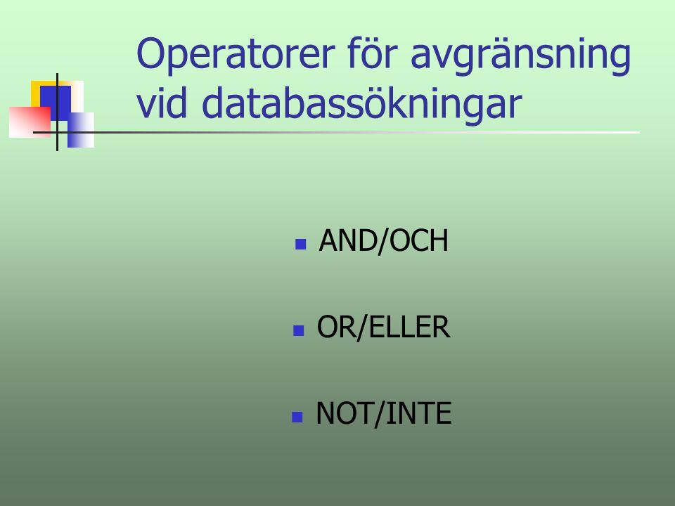 De två vanligaste databas- typerna är: Referensdatabaser – som enbart innehåller hänvisningar till – i bästa fall sammanfattningar av - böcker/artiklar Fulltextdatabaser - som innehåller de fullständiga dokumenten.