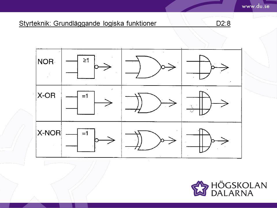 Styrteknik: Grundläggande logiska funktioner D2:8
