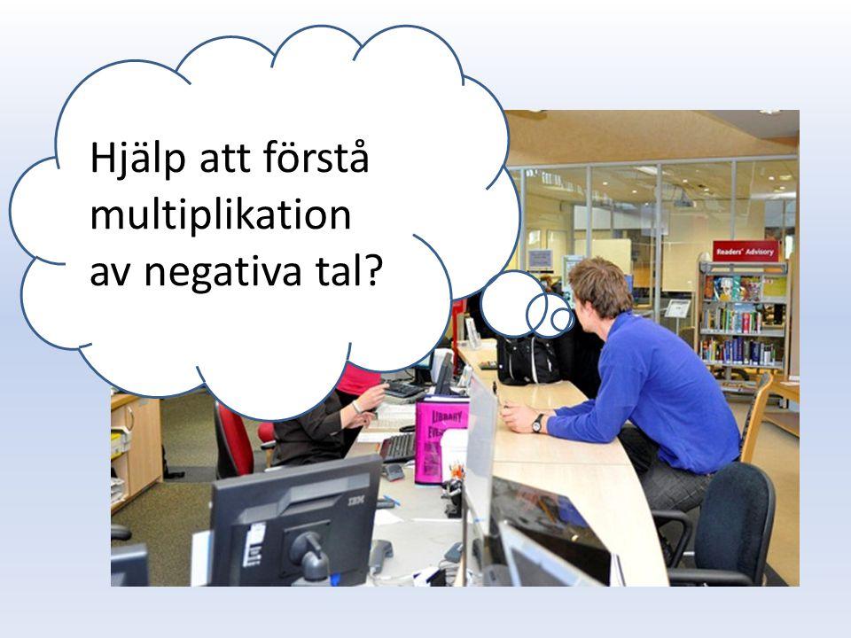 Hjälp att förstå multiplikation av negativa tal