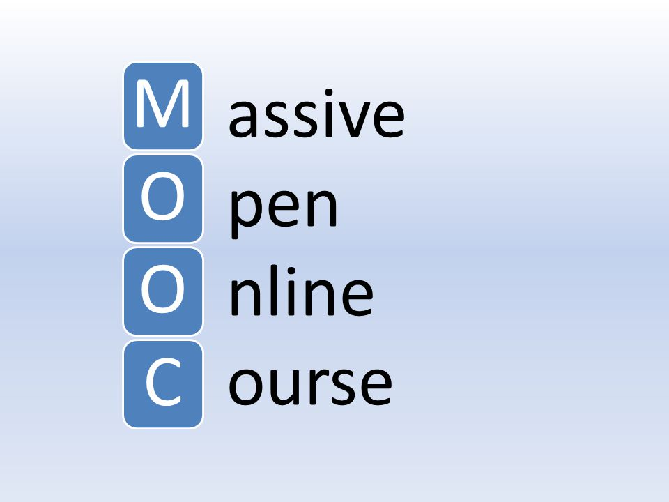 assive pen nline ourse MOOC