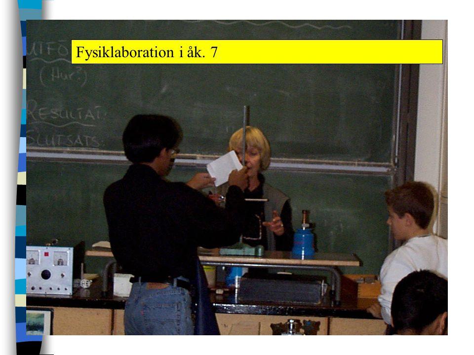 Fysiklaboration i åk. 7