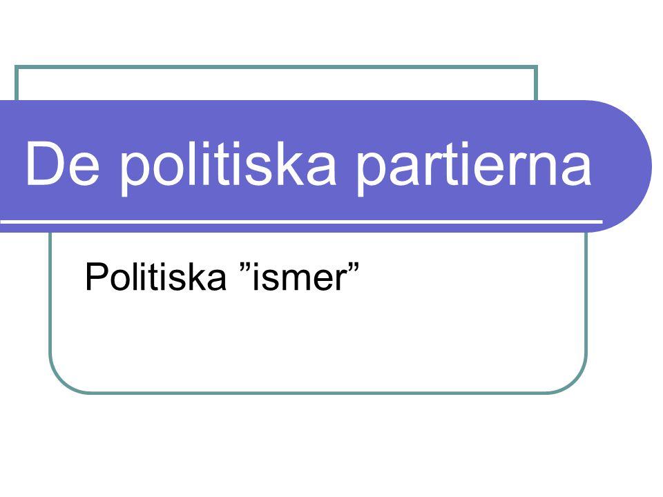 """De politiska partierna Politiska """"ismer"""""""