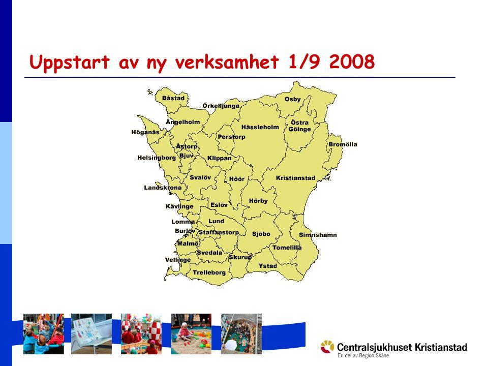 Uppstart av ny verksamhet 1/9 2008