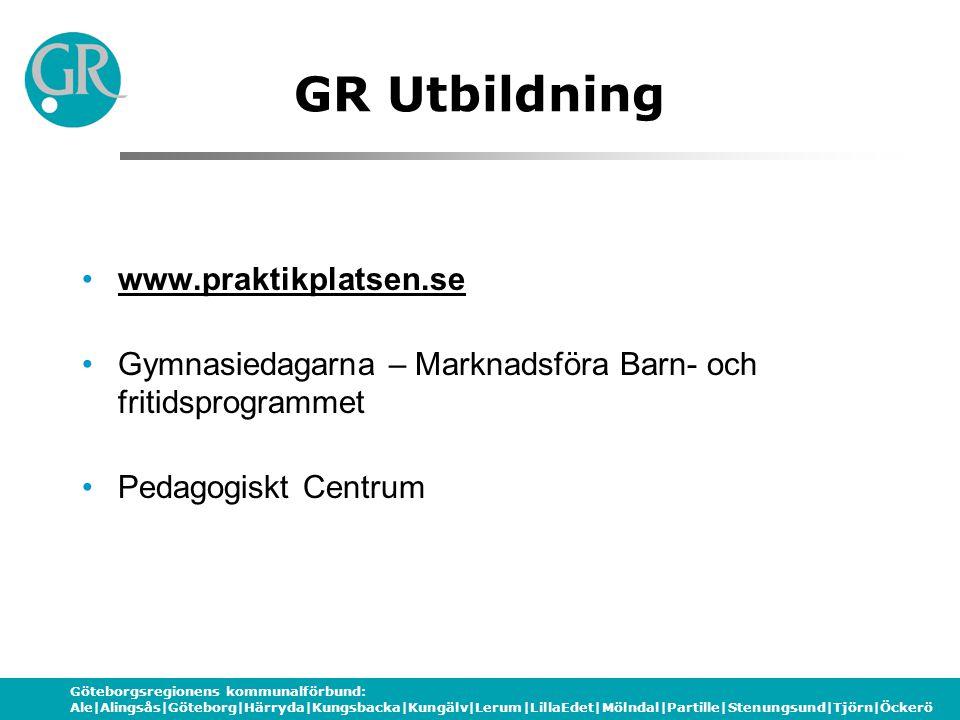 Göteborgsregionens kommunalförbund: Ale Alingsås Göteborg Härryda Kungsbacka Kungälv Lerum LillaEdet Mölndal Partille Stenungsund Tjörn Öckerö På gång….