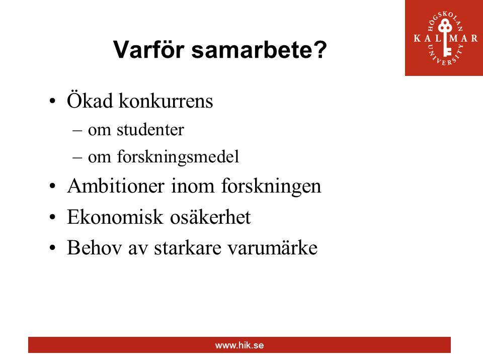 www.hik.se Varför samarbete.