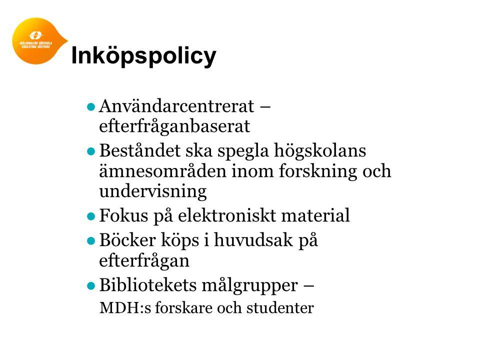 Behovsinventering 2014 - genomförande ●Enkät till akademierna.