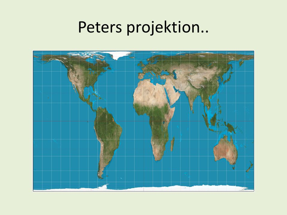 Peters projektion..