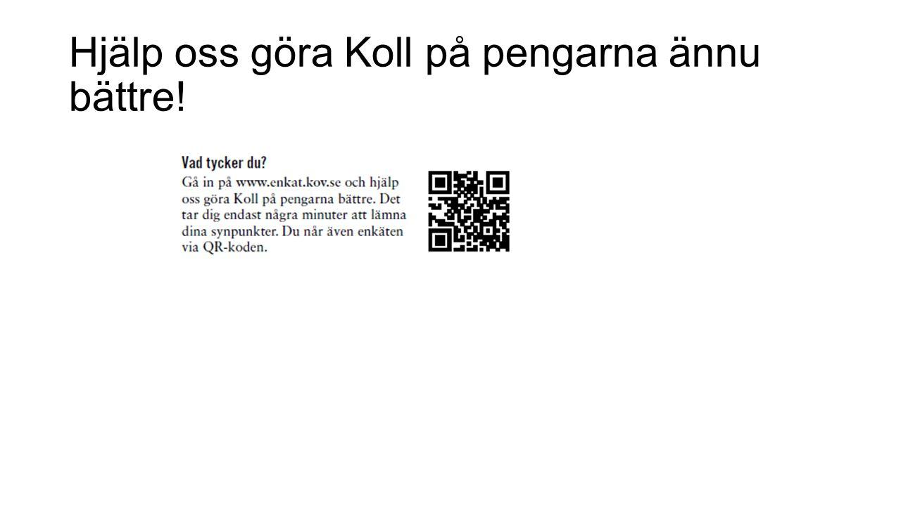 Hjälp oss göra Koll på pengarna ännu bättre!