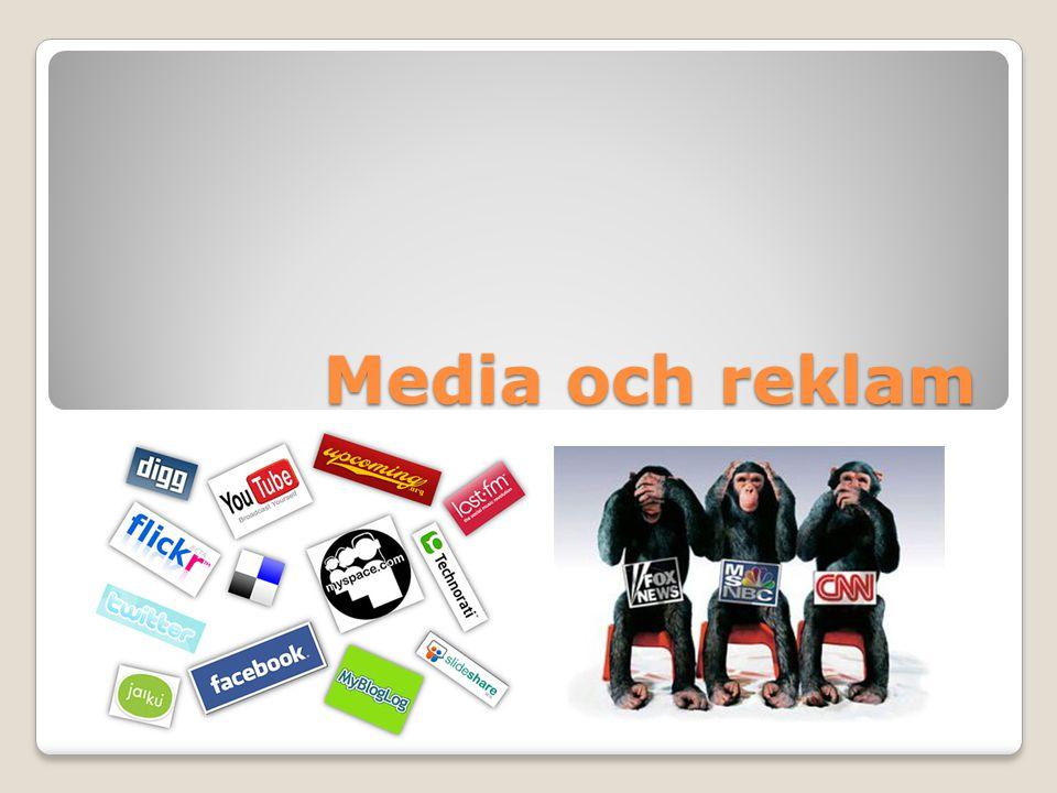 Reklam & propaganda REKLAM är ett sätt att marknadsföra en vara eller en tjänst för att övertyga människor att köpa den.
