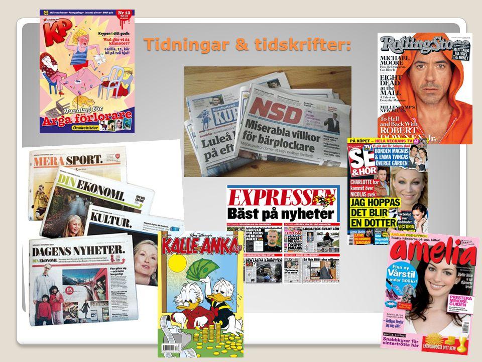 Tidningar & tidskrifter: