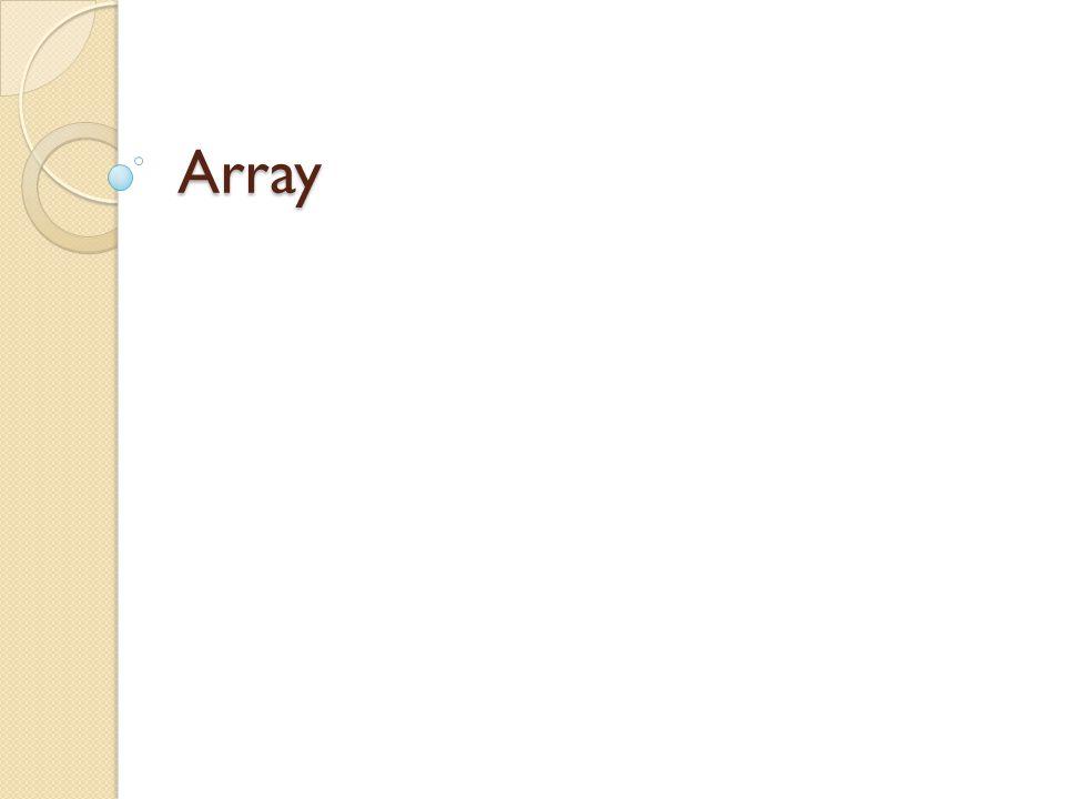Vad är en array.